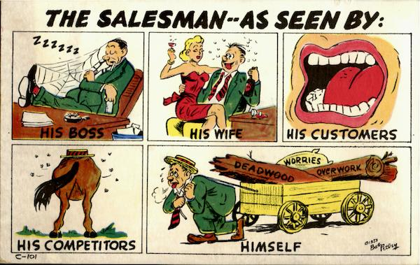 The Salesman As Seen By... Comic, Funny