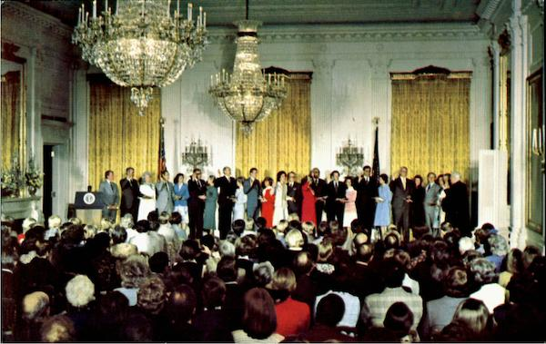 President Carter Presides At The Swearing In Of His Cabinet