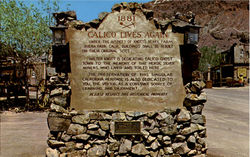 Calico Ghost Town Commemorative Monument