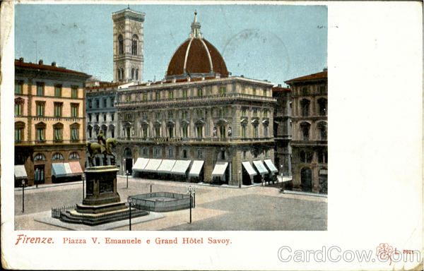 Piazza V. Emanuele E Grand Hotel Savoy Firenze Italy