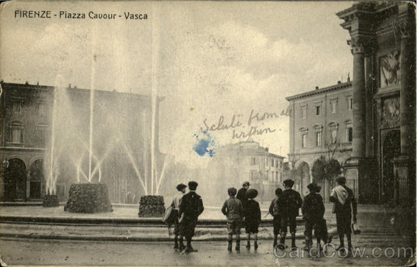 Piazza Cavour Vasca Firenze Italy