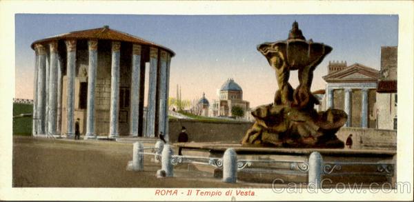 Il Tempio Di Vesta Roma Italy