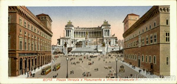 Piazza Venezia E Monumento A Vittorio Emanuele II Roma Italy