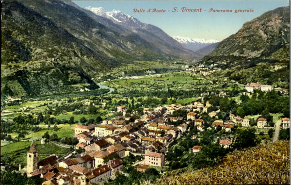 Valle d'Aosta S. Vincent Panorama Generale France