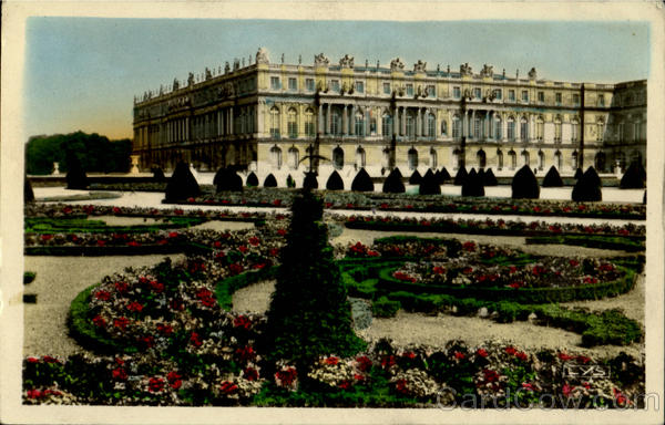 Front On To The Park The Flower Bed Versailles France