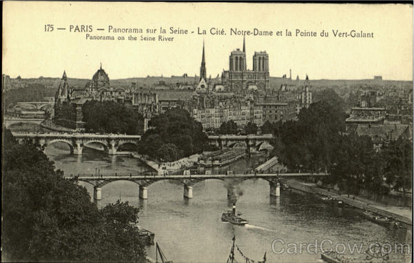 Panorama On The Seine River Paris France