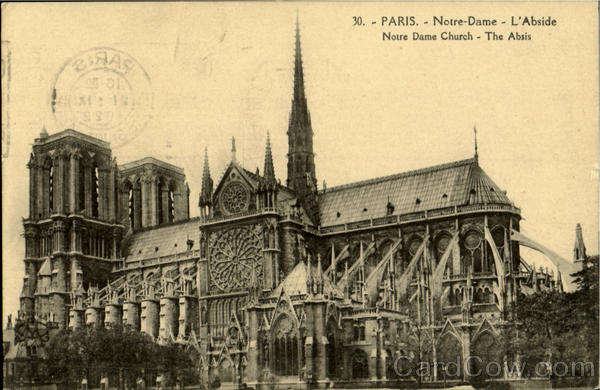 Notre Dame Church Paris France