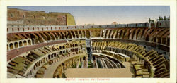 Interno Del Colosseo Postcard