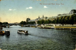 The Louvre And River Scine