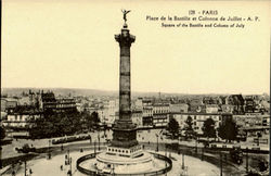 Square Of The Bastille And Column Of July