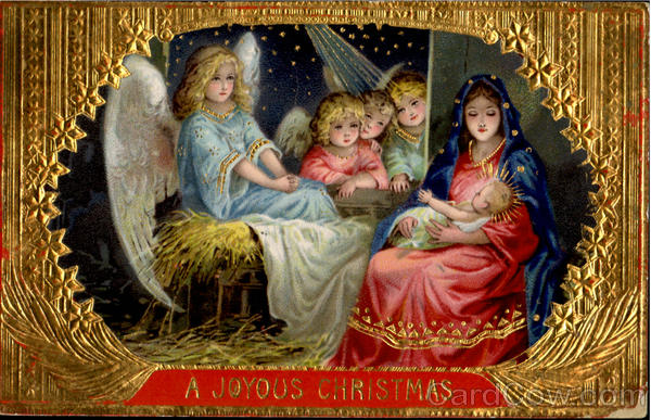 A Joyous Christmas Madonna & Child Angels