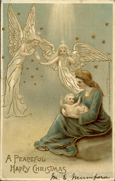 A Peaceful Happy Christmas Angels