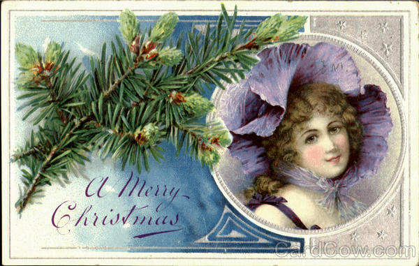 A Merry Christmas - Purple Bonnet