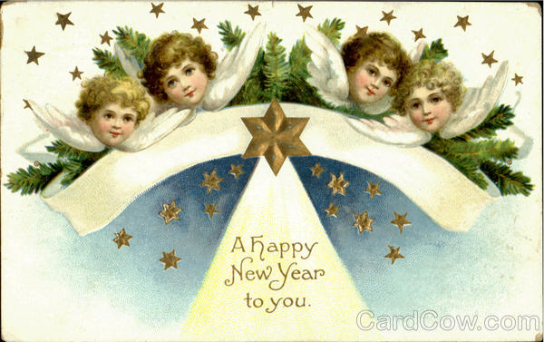 A Happy New Year To You Ellen Clapsaddle New Year's