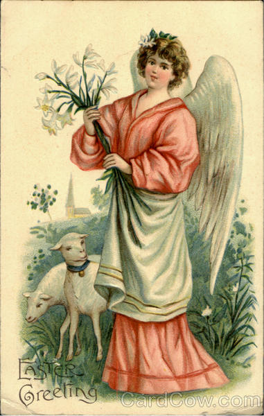Easter Greeting Angels