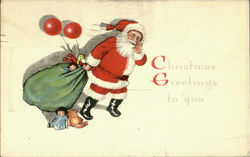 Christmas Greetings To You Postcard