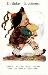 Birthday Greetings - Bagpipes