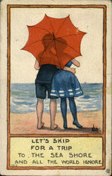 Let's Skip For A Trip Postcard
