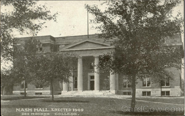 Nash Hall, Des Moines College Iowa