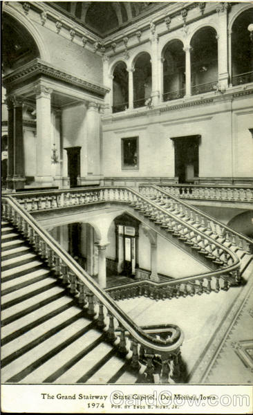 The Grand Stairway State Capitol Des Moines Iowa