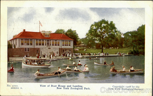 View Of Boat House And Landing, New York Zoological Park New York City