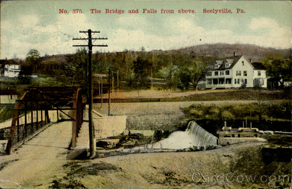 The Bridge And Falls From Above Seelyville Pennsylvania