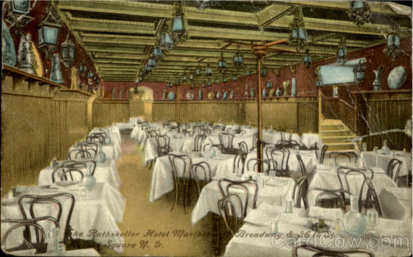 The Rathskeller Hotel Marlbore, Broadway & 36th St New York City