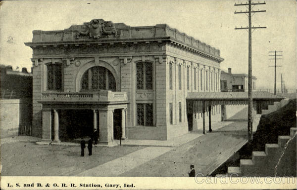 L. S. And B. & O. R. R. Station Gary Indiana