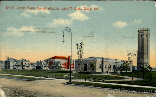 Park Scene, So. Of monroe and 6th Ave Gary Indiana