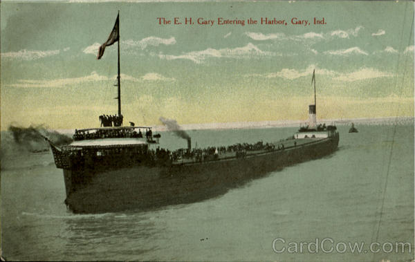 The E. H. Gary Entering The Harbor Indiana