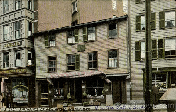 Birthplace Of Paul Revere Boston Massachusetts