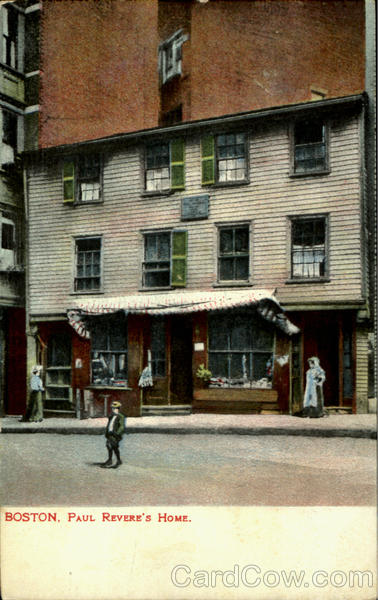 Paul Revere's Home Boston Massachusetts