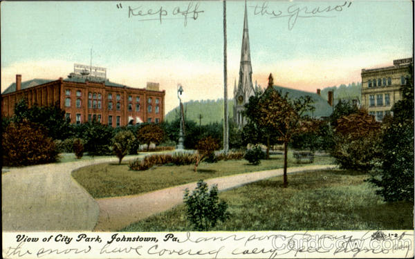 View Of City Park Johnstown Pennsylvania
