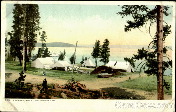 A Summer Camp, Yellowstone Lake Wyoming Yellowstone National Park