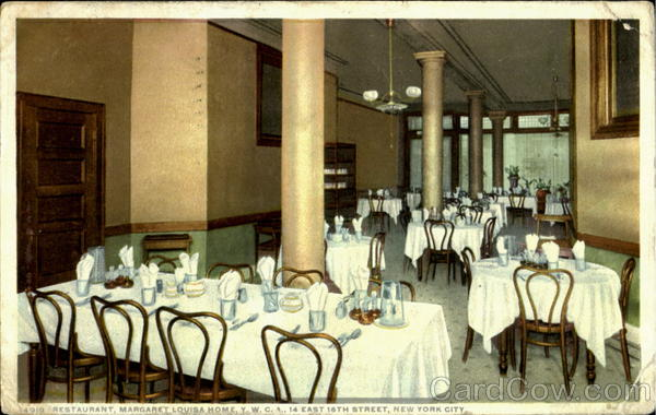 Restaurant Margaret Louisa Home Y.W.C.A, 14 East 16th Street New York