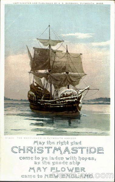 The Mayflower In Plymouth Harbor Boats, Ships