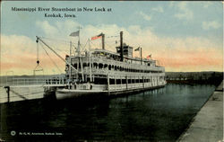 Mississippi River Steamboat In New Lock