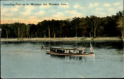 Launching Party On The Mississippi