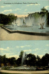 Fountains In Allegheny Park Postcard