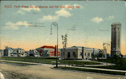 Park Scene, So. Of monroe and 6th Ave Postcard