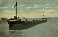 The E. H. Gary Entering The Harbor Postcard