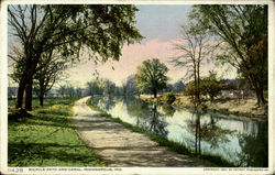 Bicycle Path And Canal Postcard