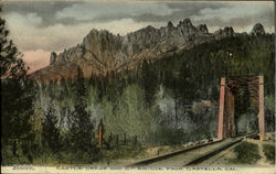 Castle Crags And S. P. Bridge