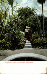 A Garden Scene In Southern California