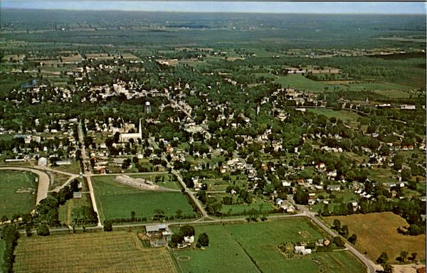 Aerial View Of Perth Ontario Canada