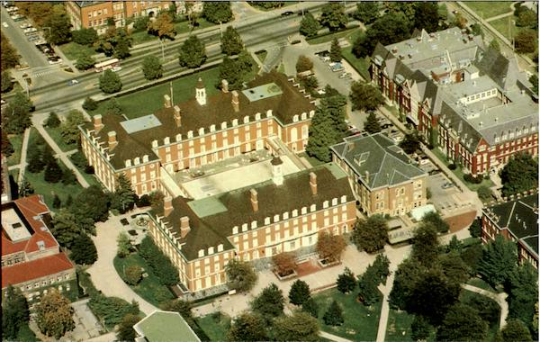 Aerial View Of The Illini Union And Surrounding Area, University Of Illinois Urbana