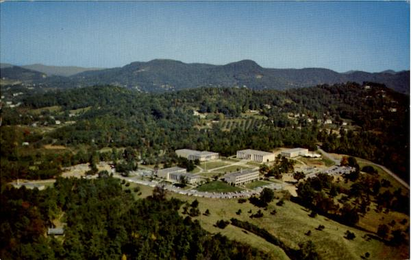 Aerial View O Asheville Biltmore College North Carolina