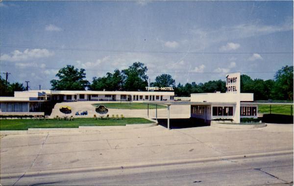 Poplar Bluff Missouri~tower court~Gas Station~1950s PC | eBay