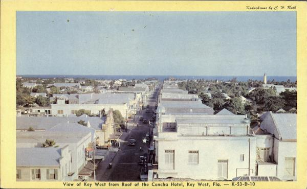 View Of Key West From Roof Of The Concha Hotel Florida