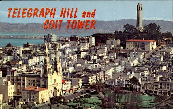 Telegraph Hill And Coit Tower San Francisco California